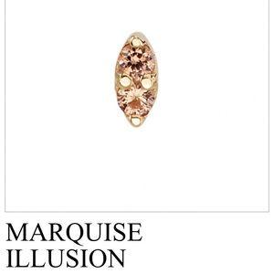 BVLA 14k gold marquise illusion